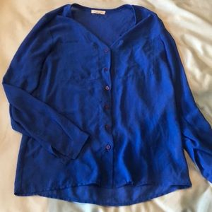 Tops - Blue sheer button up